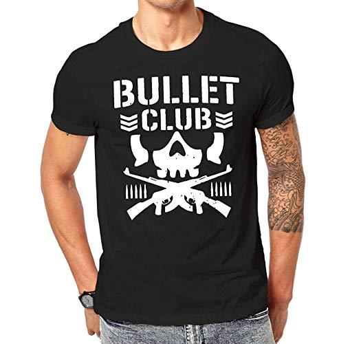 New Bullet Club UFC Fight Japan Wrestling T Shirt Black Screen Printed Design