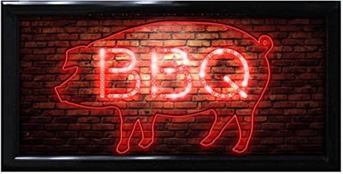 "Crystal Art ""Sign Of The Times"" BBQ Pig LED Lighted Sign,..."
