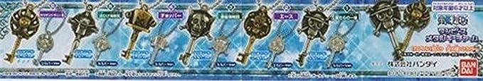 "One Piece Bandai Metal Keychain Charm-2/"" Portagas D Ace Chrome-701121"