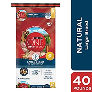 Purina ONE Natural Large Breed Dry Dog Food; SmartBlend Large Breed Adult Formula - 40 lb. Bag 97