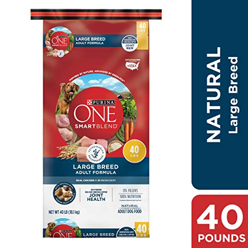 Purina ONE Natural Large Breed Dry Dog Food; SmartBlend Large Breed Adult Formula - 40 lb. Bag