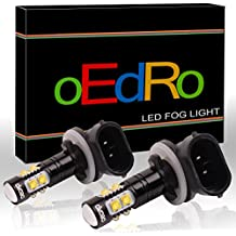 oEdRo Extremely Bright 50W 881 LED Bulb 889 894 896 Fog Driving Light DRL 6000K Xenon White (Pack of 2)