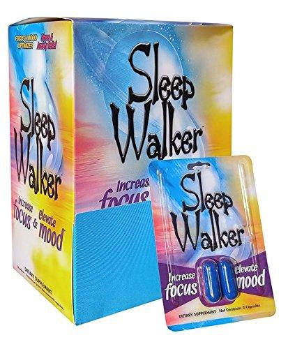 Sleepwalker Focus   Mood Optimizer Capsules  4 48 Pills  Sleep Walker Stress Relief Pills   24 Packs   48 Pills