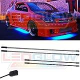 LEDGlow Blue SMD LED Slimline Underbody Underglow Car Light Kit