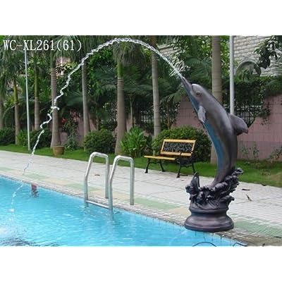 Amazon.com: Garden Outdoor Dolphin Spout Spitter Sculpture Statue Fountain  With Pump WC XL261(61)