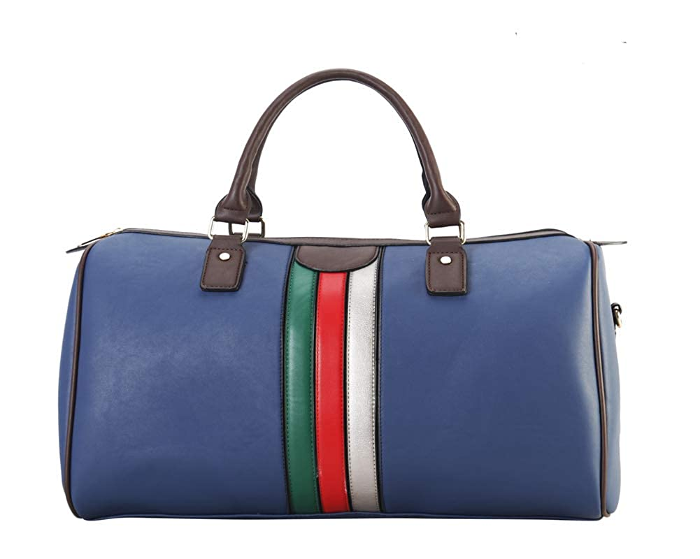 bluee Lady's Moment Women Fashion Leather Tote Bag Handbag Travel Bags Weedkend Overnight