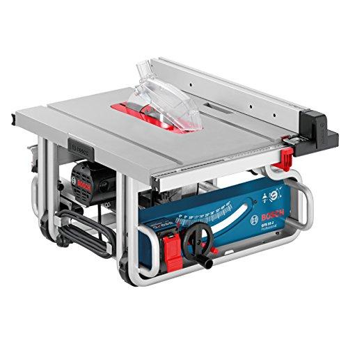Bosch Professional GTS 10 J, 254 mm Sägeblattdurchmesser, 642 x 572 mm Tischgröße, Absaugadapter, Schiebestock, Sägeblatt, Winkelanschlag, Parallelanschlag