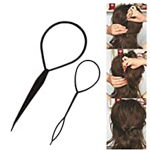 3SETS 2 PCS Hair Braid Topsy Twist Styling Loop Ponytail Maker Styling Tool
