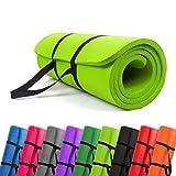 PROMIC Pilates Mat 1/2 inch - Anti Tear Exercise mat - Non Slip Yoga Mat - Non Toxic Pilates Mat...