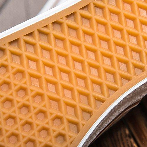 pedale uomo Bianca Scarpe basse coreano di Espadrillas 43 scarpe tela traspirante Bianca pigre un stile uomo Size terra scarpe Color da piatte Scarpe da moda YaNanHome scarpe wAZxgqAI