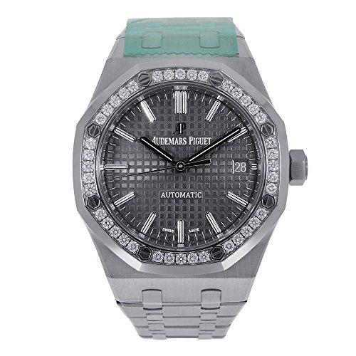 Audemars Piguet AP Royal Oak 37mm Grey Dial Diamond Bezel 15451ST.ZZ.1256ST.02
