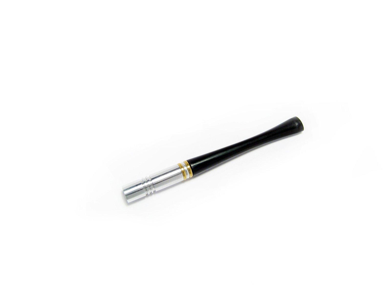 Unique Metal Cigarette Holder 3.5'' / Fits Regular/Super Slims Cigarettes and Box Fashion Pipes (Metal Super Slim)