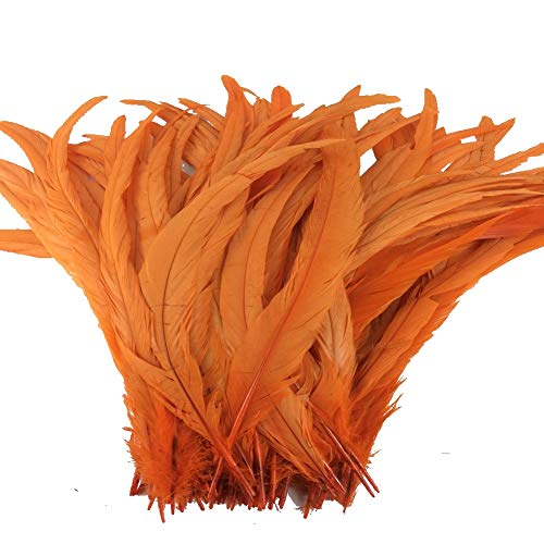 Sowder Orange Rooster Coque Tail Feathers 13-16inch Lengh Pack of 50