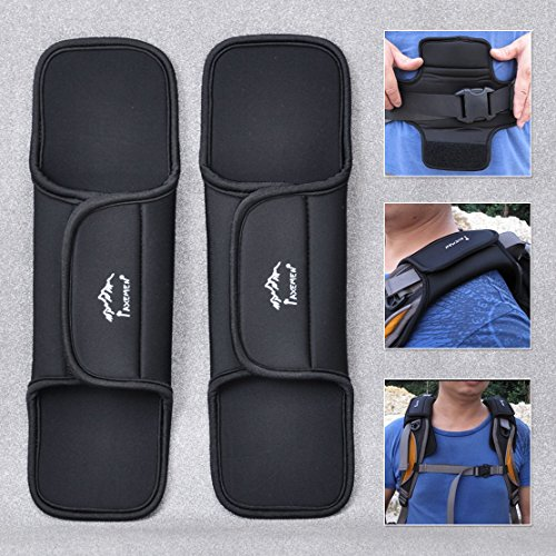 Agile-shop 1pair Anti-slip Padded Cushion for Shoulder Strap Sling BAG Sports Waist (Luggage Strap Pad)