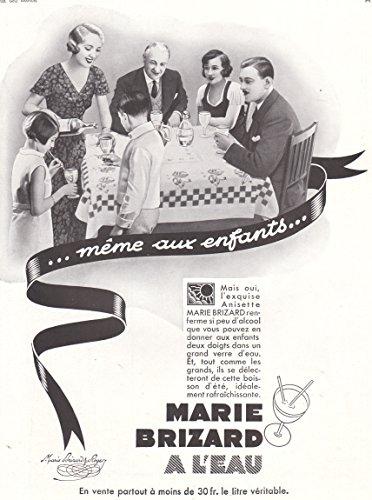 1935 Print Ad Marie Brizard Liqueur Anisette Meme Aux Enfants