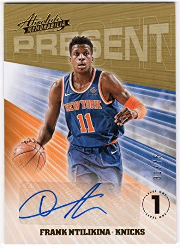 Frank Ntilikina 2018-19 Panini Absolute Present Autographs Auto Serial #31/75 New York Knicks