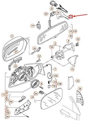 OEM A4 B8 Innenspiegel-Kabelf/ührung untere Abdeckung 8T08575934PK