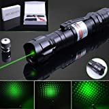 LS Military High Power Green Laser Pointer with rechargeable battery - Multi Function Tactical Interactive Flashlight Toy For Dogs Cats Kids Adults, business and class presentations, outdoor lighter