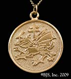 Order of the Dragon Vlad the Impaler Dracula Pendant Necklace in 14k Yellow Gold