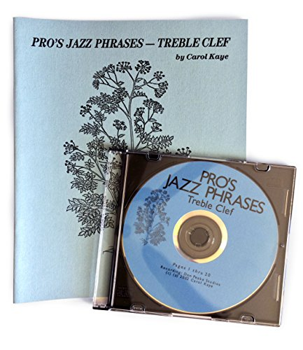 Pro's Jazz Phrases - Treble Clef book & CD by Carol Kaye (Professional Jazz Book and CD used for self-help learning., For use after Jazz Guitar CD & Guide)