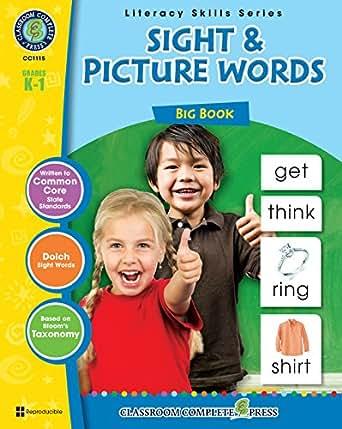 Amazon.com: Sight & Pictures Words Big Book Gr. K-1 eBook: Staci ...
