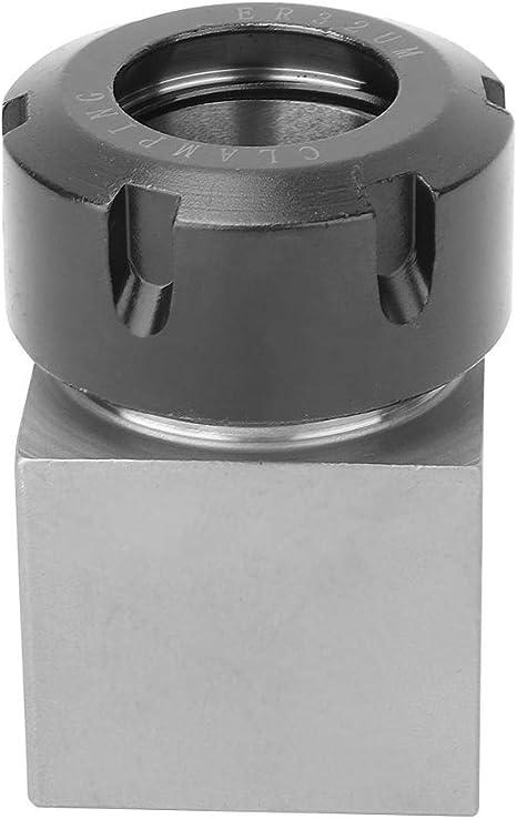 ER-32 Sechskant-Spannzangenblock Vierkant-Spannzangenhalter Hohe H/ärte Werkzeugstahl Spannzangenblockhalter f/ür CNC-Drehmaschinen-Graviermaschine Spannzangenblock