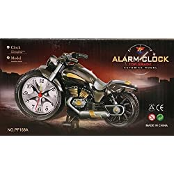 king's store Motorcycle Alarm Clock for Kids and Children (silver) (silver)