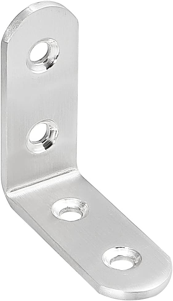 Pack of 15 uxcell Corner Brace 50mmx50mmx20mm Stainless Steel Joint L Shape Right Angle Brackets Fastener