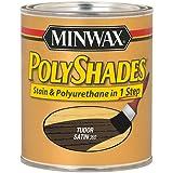 Minwax 213604444 Polyshades - Stain & Polyurethane in 1 step, 1/2 pint, Tudor, Satin