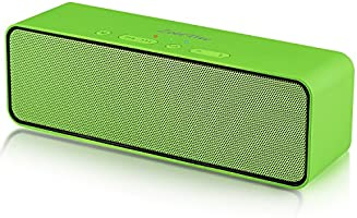 ZoeeTree S4 Wireless Bluetooth Speaker, Portable Stereo Subwoofer with HD Sound and Bass, Built-in Mic, Bluetooth 4.2, TF Card Slot, Outdoor Speakers for iPhone, iPad, Samsung etc (Green)