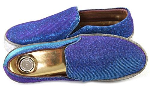 Elisabetta Franchi Damenschuhe Shoe Slipper Slip-on Sneakers 2285 Blau Blau