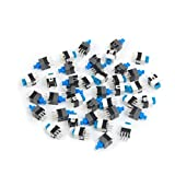 40 Pcs 6 x 6mm PCB Tact Tactile Push Button Switch Self Lock 6 Pin DIP