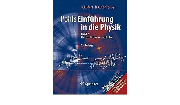 pohls einfhrung in die physik band 2 elektrizittslehre und optik