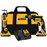 DEWALT DCK263D2 20V MAX XR Li-Ion Cordless Drywall Screwgun and Cut-out Tool Kit