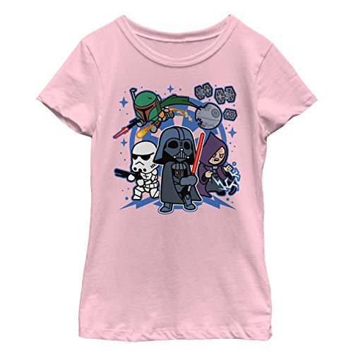 Star Wars Girls' Big, Pink // Team Vader, Small
