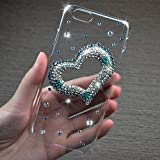 LG G3 Case, JCmax Extreme Deluxe Bling Diamond Crystal Jewel Premium Hard Back Protective Cover Perfect Fit Plastic Transparent Shell for LG G3 -Love