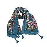 Spbamboo Womens Scarf Stripe Print Neck Fashion Retro Female Multipurpose Shawl
