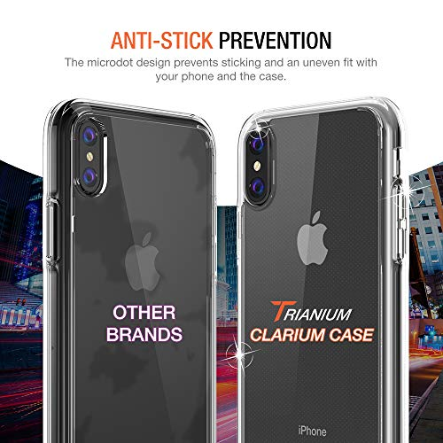 Trianium Clarium Case Designed for Apple iPhone Xs MAX Case (2018 6.5'' Display ONLY) Reinforced Corner TPU Cushion and Hybrid Rigid Clear Back Plate Protection Covers [Enhanced Hand Grip] - Clear by Trianium (Image #5)