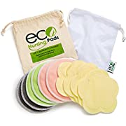 Washable Reusable Bamboo Nursing Pads | Organic Bamboo Round Breastfeeding Pads, Ultra-Soft Velvet Flower Pads | 10 Pack with 2 BONUS Pouches & FREE E-Book by EcoNursingPads | Perfect Baby Shower Gift