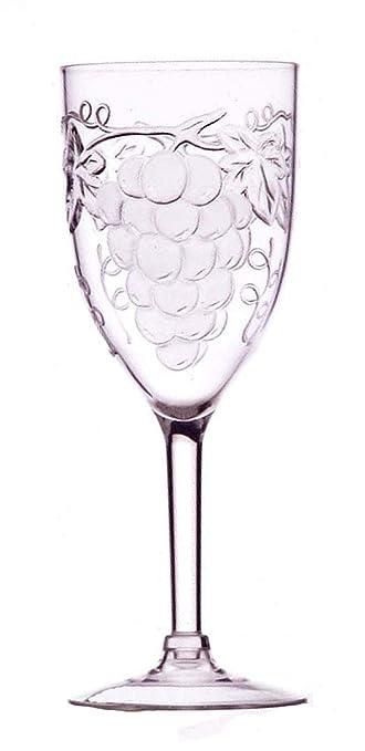 Amazoncom Jubilee 10 Ounce Acrylic Embossed Grape Wine Glasses