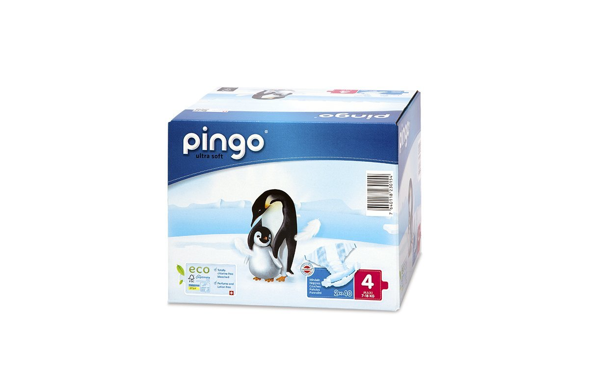 Pingo Pañales Talla 4 Maxi (7-18 Kg) - Caja de 2 x