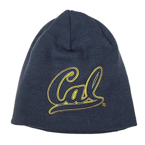 Cal Bears NCAA One Size Uncuffed Knit Beanie Stocking Hat Cap Berkley