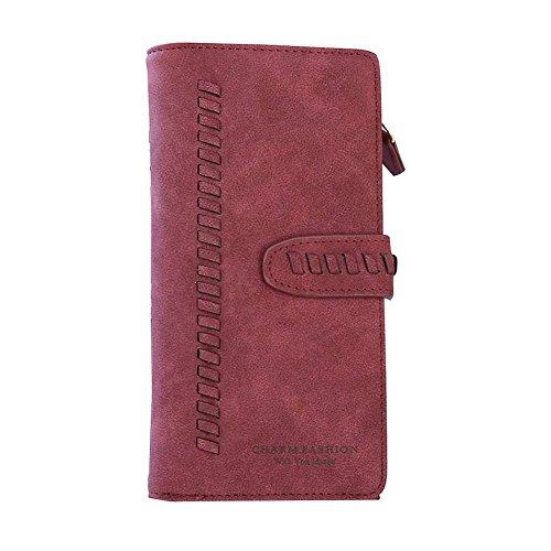 Bi Fold Clutch - TJEtrade Women's Wallets Bifold Suede Luxury Clutch Card Holder Large Capacity