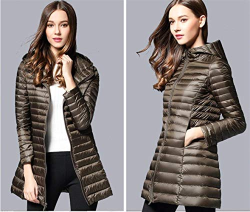 Fit Jacket Casual Vintage Screenes with Padded Coat Slim Winter Elegant Sleeve Chic Warm Jacket Color Zipper Fashion Autumn Black Lila Jacket Hooded Coat Long Ladies Solid Quilted Down EvqxWv1