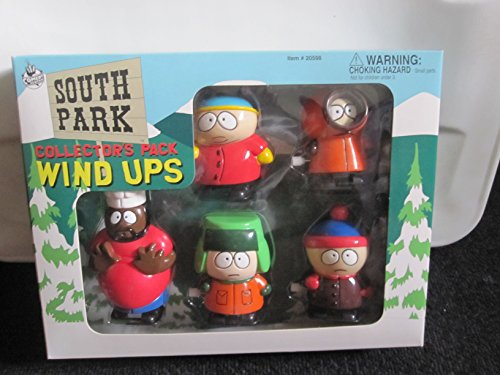 (1998 South Park STAN KYLE KENNY CARTMAN CHEF Wind-Up Walkers Set )