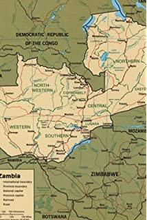 Zambia 11 500 000 Travel Map International Travel Maps ITM