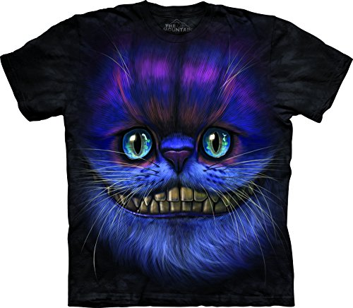 The Mountain Men's Big Face Cheshire Cat T-Shirt Black XL