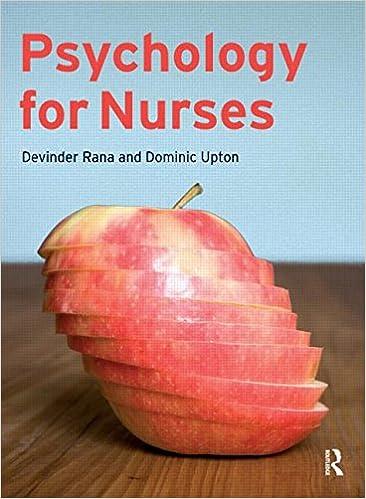 Psychology for Nurses: Amazon co uk: Devinder Rana, Dominic