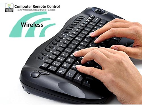 Wireless Optical Keyboard Trackball (TeKit Wireless 2.4G Keyboard With Trackball (QWERTY, Internet + Media Hotkeys, PC + Mac))