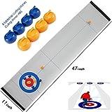 Rettebovon Tabletop Curling Game for Kids Family